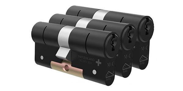 Zwarte cilindersloten