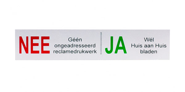 Cubic Colors geen reclame stickers