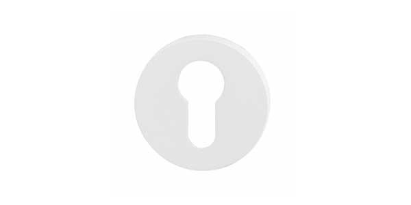 Cilinderrozetten wit