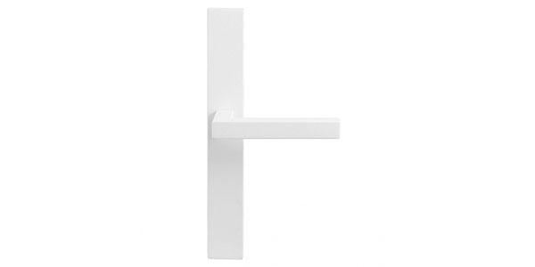 Deurklink met schild wit