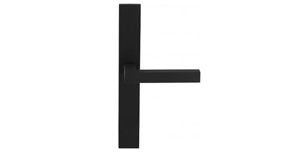 Deurklink met schild zwart