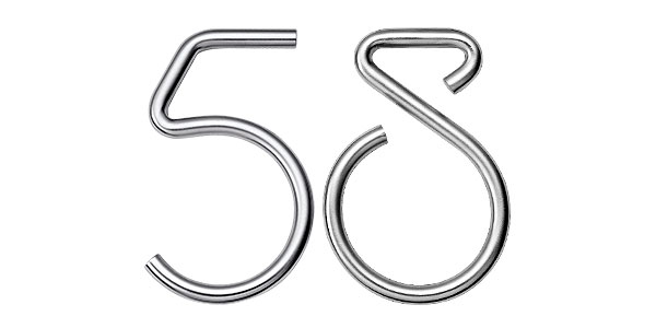 Huisnummers modern