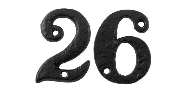 Gietijzeren huisnummers