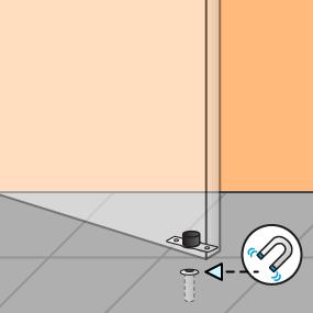 Magnetische deurstopper