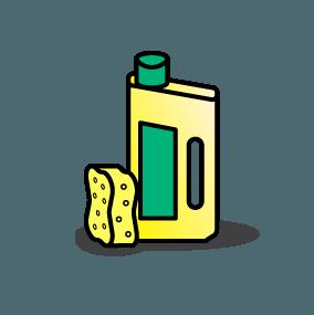 Groene zeep voor deuren