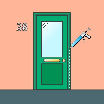 Afwerken van de deur