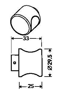 K6 standaard knop aan binnenzijde