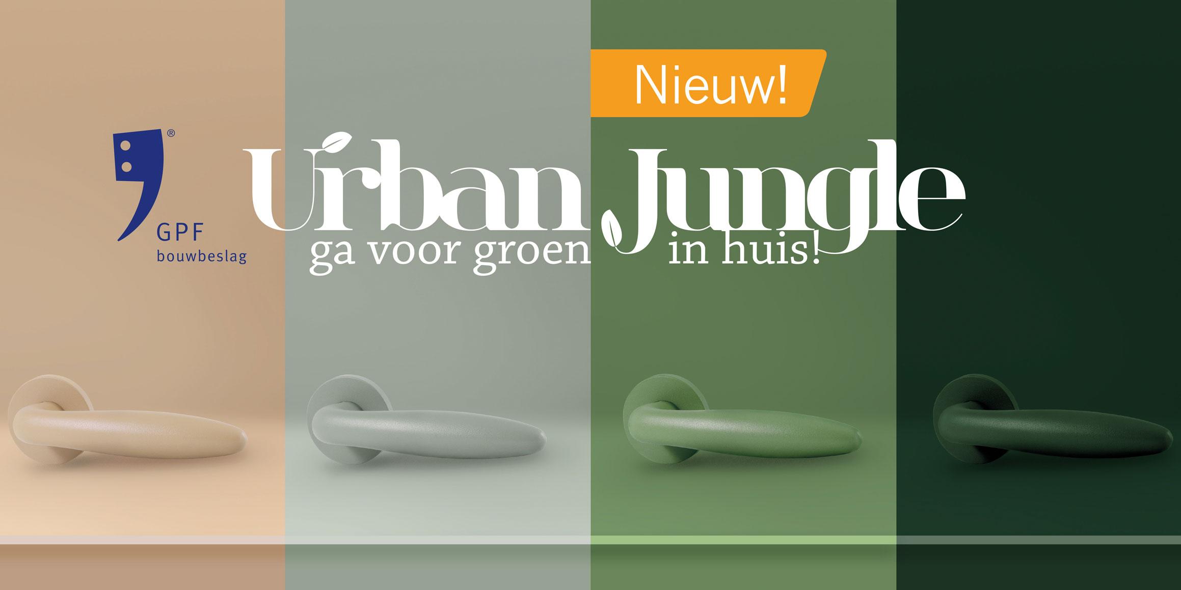 Maak jouw urban jungle compleet met groen deurbeslag