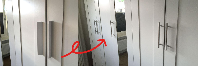 DIY: kledingkast upgraden met meubelgrepen